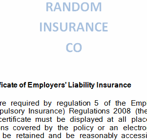 EL Insurance certificate - does my business need Employers Liability Insurance