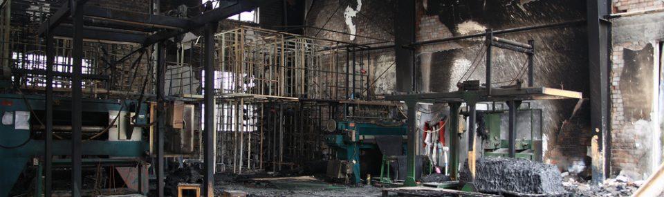fire damaged building - Business Interruption Insurance