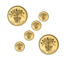 pound coins forming a percent symbol by Cass-Stephens Insurances Gloucester