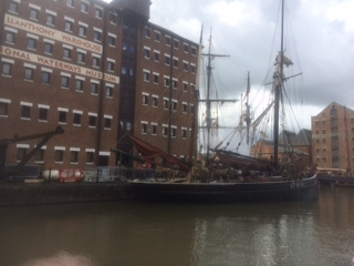 Alice Through The Looking Glass at Gloucester Docks, photo by Cass-Stephens Insurances